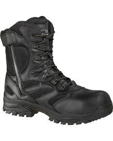 "Thorogood Men's Deuce 8"" Waterproof Side Zip Work Boots - Composite Toe, Black, hi-res"