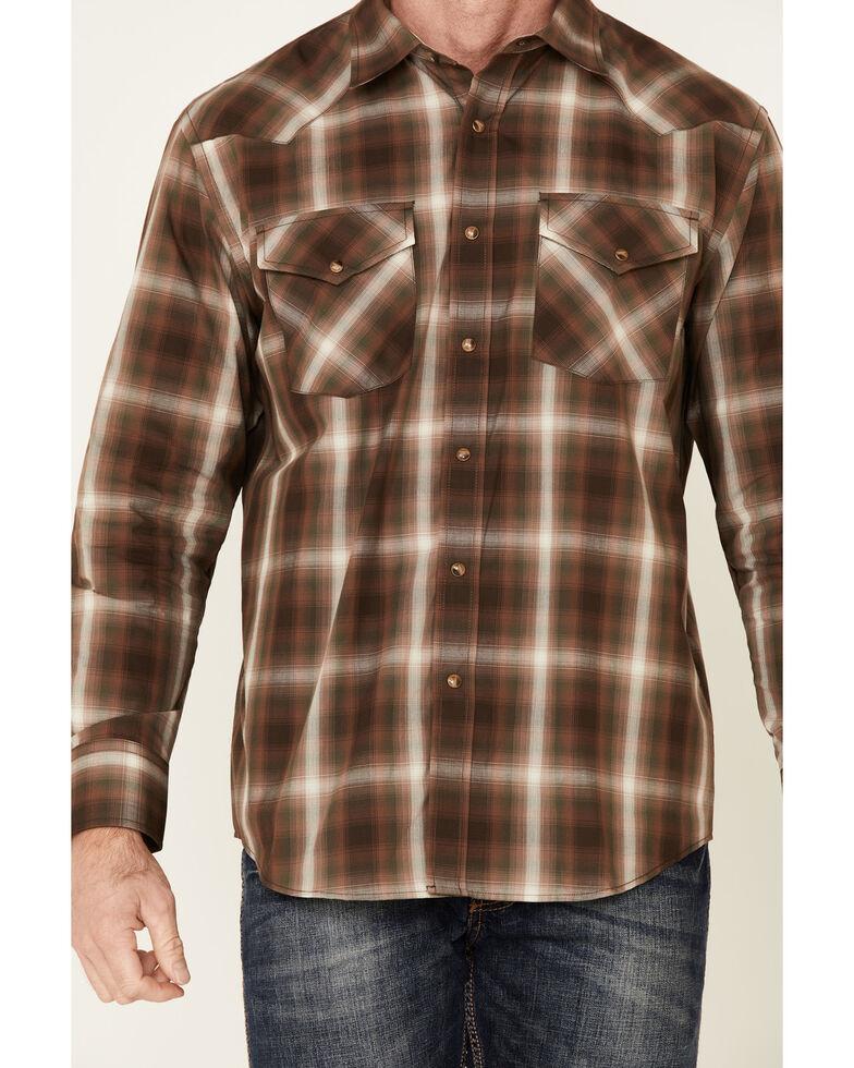 Pendleton Men's Brown Frontier Long Sleeve Western Shirt , Brown, hi-res