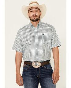 Cinch Men's Multi Geo Print Short Sleeve Western Shirt , Multi, hi-res