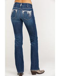 Ariat Women's R.E.A.L. Shimmer Bootcut Jeans, Blue, hi-res