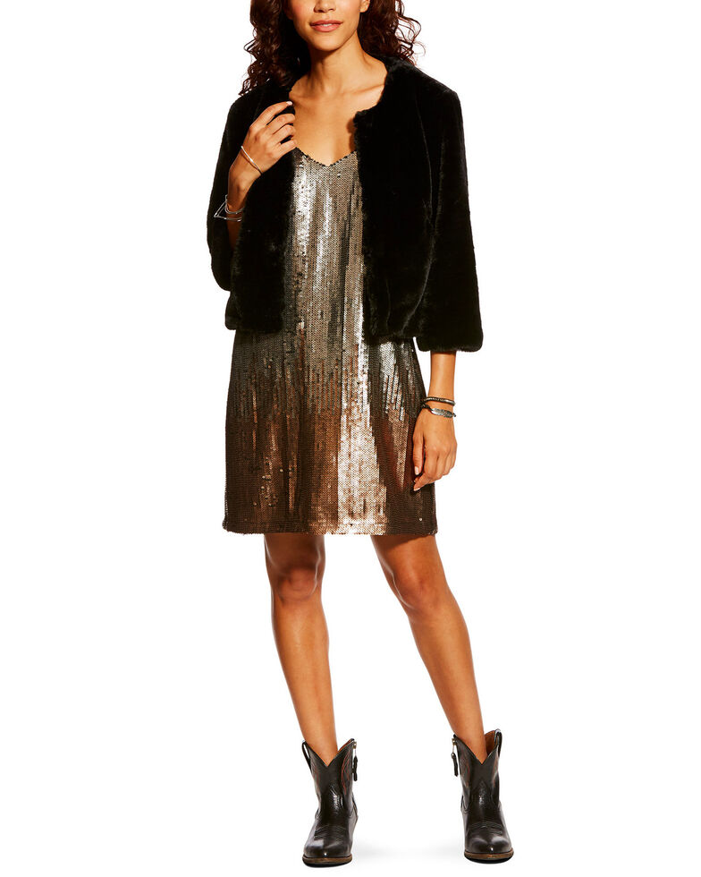 Ariat Women's Mona Cropped Jacket, Black, hi-res