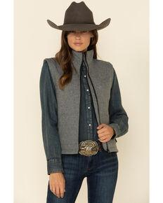 STS Ranchwear Women's Heather Grey Barrier Softshell Vest , Grey, hi-res