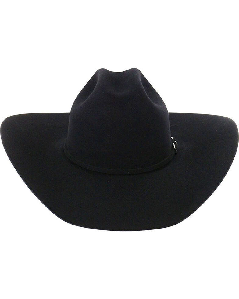 Rodeo King 7X Black Felt Cowboy Hat, Black, hi-res