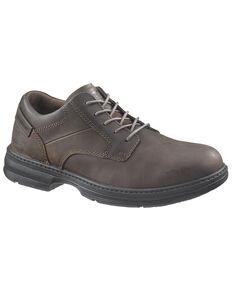 Caterpillar Men's Oversee Work Shoes - Steel Toe, Dark Brown, hi-res