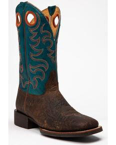 Cody James Men's Suntan Bullhide Western Boots - Square Toe, Brown, hi-res
