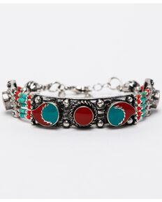 Shyanne Women's Summer Escape Chain Link Multi Peyote Beaded Bracelet , Silver, hi-res