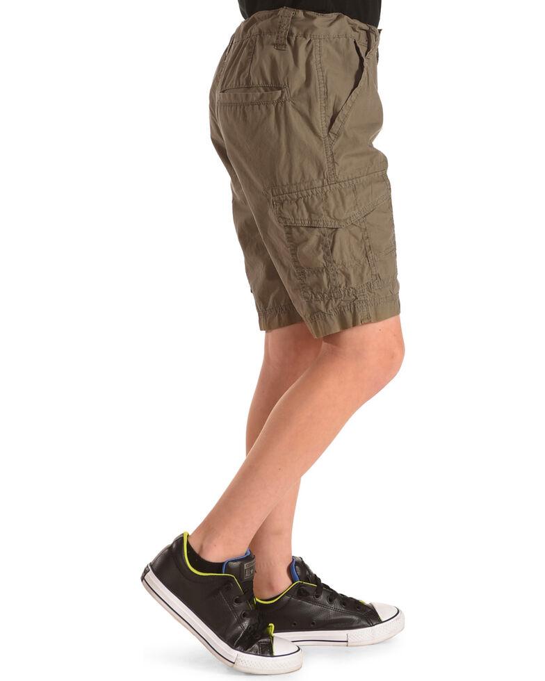 Silver Boys' Olive Cargo Shorts, Olive, hi-res