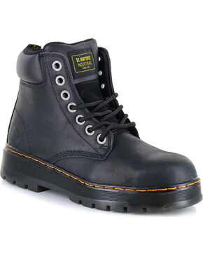 Dr. Marten Men's Winch Wyoming Steel Toe Work Boots, Black, hi-res
