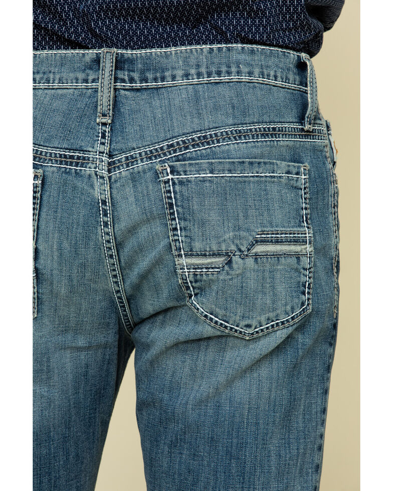 Cinch Men's Carter 2.0 Stonewash Performance Relaxed Bootcut Jeans , Indigo, hi-res