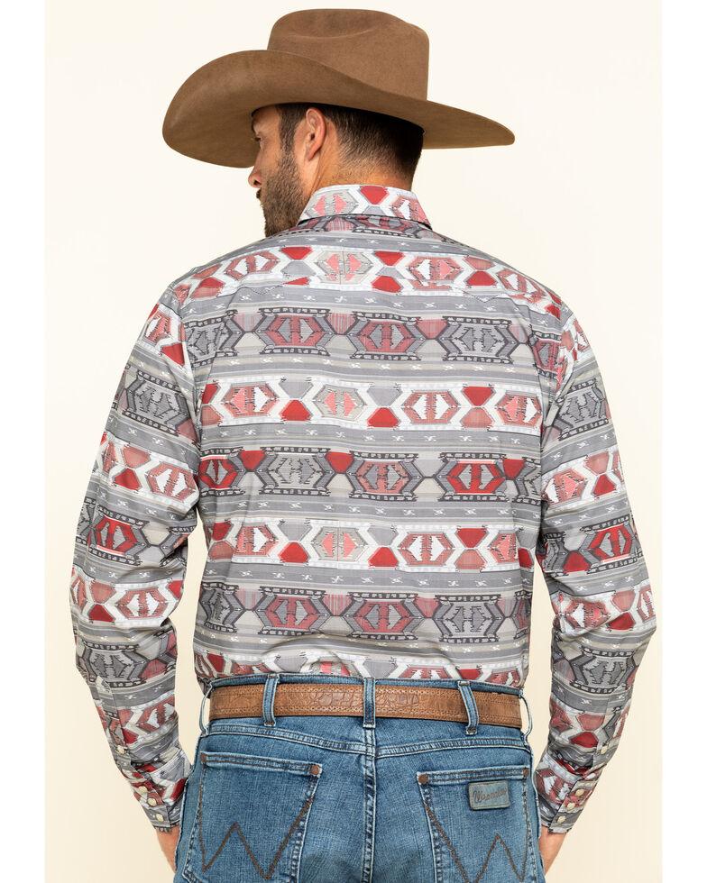 Roper Men's West Made Aztec Weaving Print Long Sleeve Western Shirt , Red, hi-res