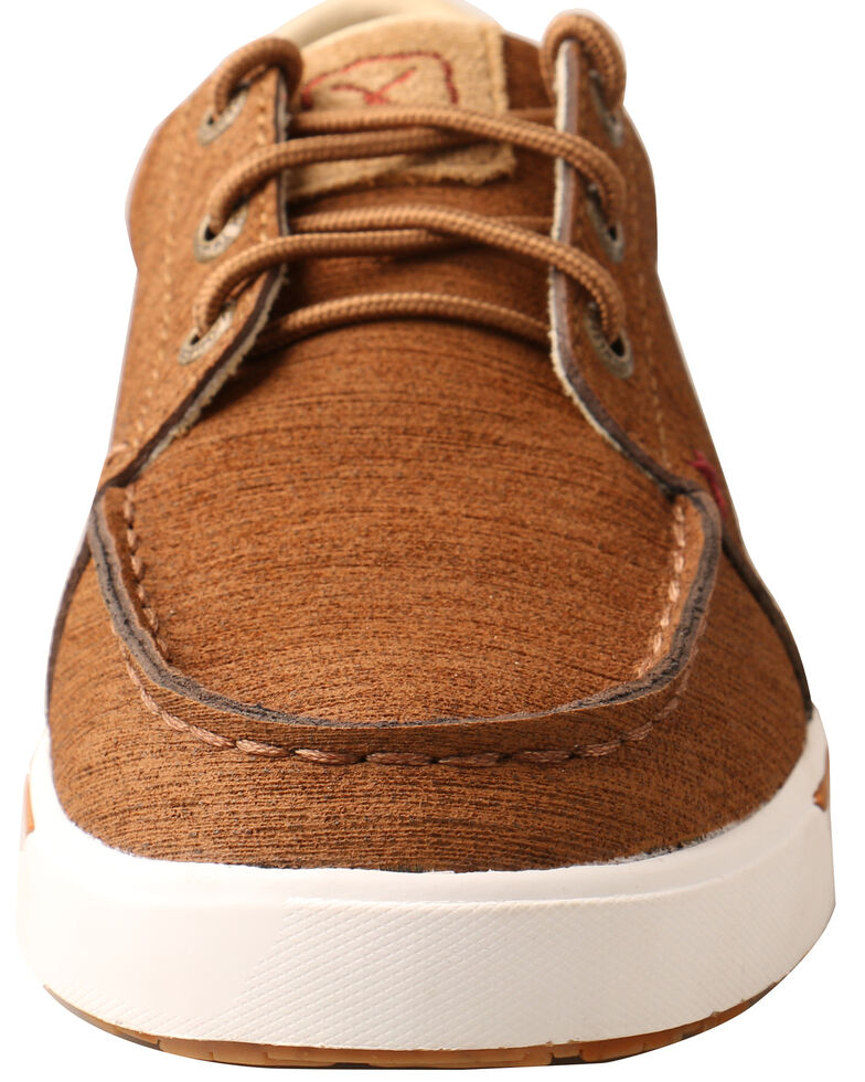 Twisted X Boys' Brown Lace-Up Shoes - Moc Toe, Brown, hi-res