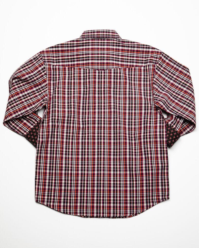 Panhandle Select Boys' Multi Check Plaid Long Sleeve Western Shirt , Multi, hi-res
