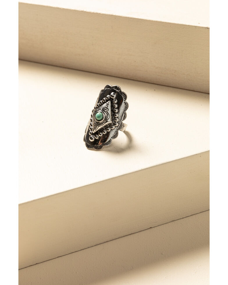 Idyllwind Women's Turquoise Studded Ring, Silver, hi-res