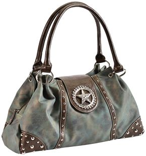 Blazin Roxx Blue Star Shoulder Bag, Blue, hi-res