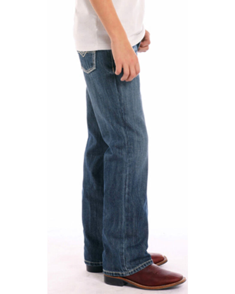 """Rock & Roll Cowboy Boys' BB Gun Small """"V"""" Regular Fit Boot Cut Jeans, Indigo, hi-res"""