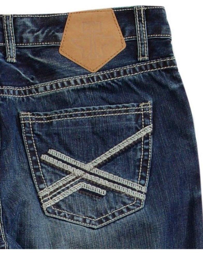 Tin Haul Men's Medium Wash Regular Joe Fit Jeans - Boot Cut, Indigo, hi-res
