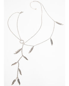 Idyllwind Women's New Strings Feather Necklace, Silver, hi-res