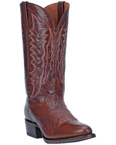 Dan Post Men's Carr Western Boots - Round Toe, Brown, hi-res