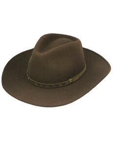Henschel Men's Brown Piedmont Crushable Wool Felt Western Outback Hat , Brown, hi-res