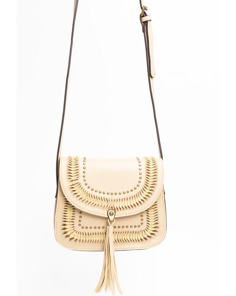 Shyanne Women's Leather Tied Detail Messenger Bag, Tan, hi-res