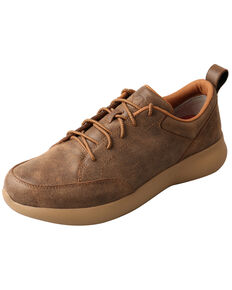 Twisted X Men's CellStretch Driving Shoes - Round Toe, Brown, hi-res