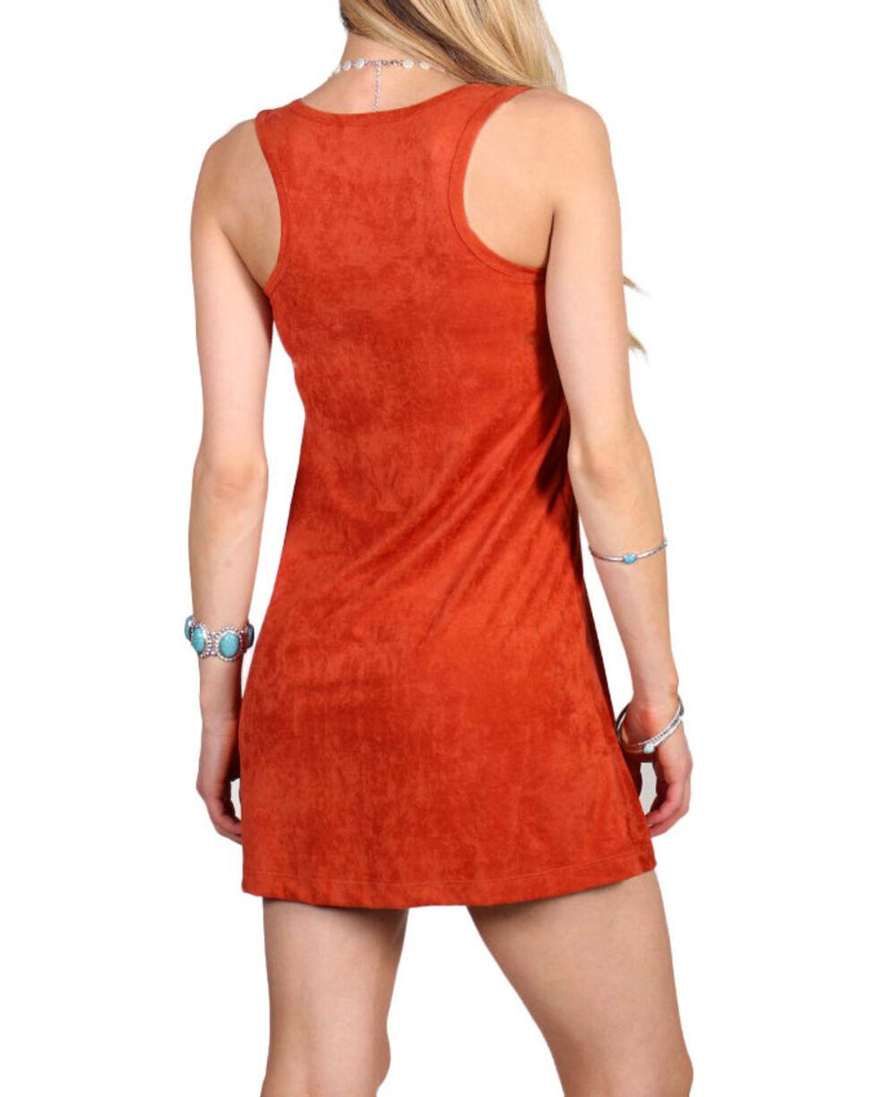 Jody of California Women's Lace-Up Dress, Rust Copper, hi-res