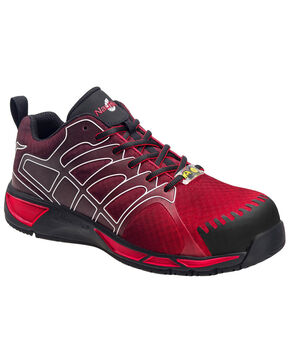 Nautilus Men's Waterproof Athletic Work Shoes - Composite Toe, Red, hi-res