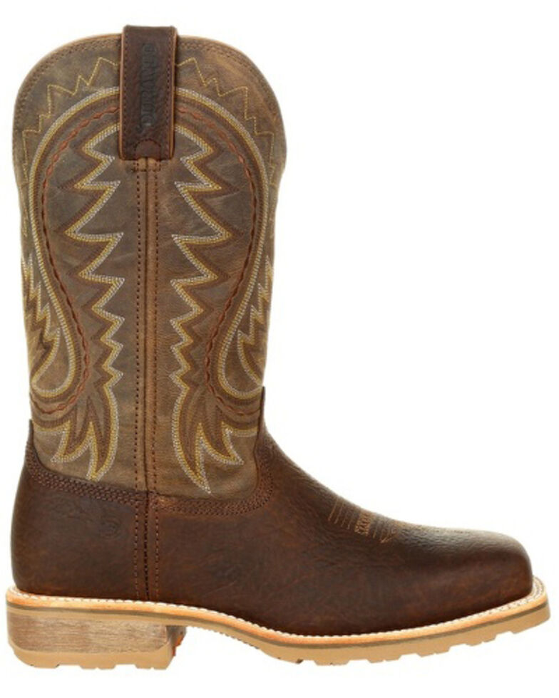 Durango Men's Maverick Pro Western Work Boots - Steel Toe, Brown, hi-res