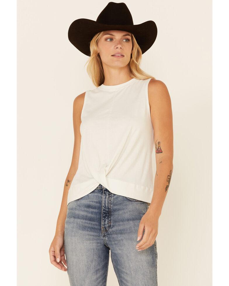 Shyanne Life Women's Solid White Twist Bottom Tank Top , White, hi-res