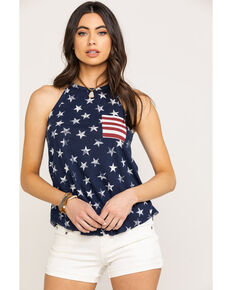 Others Follow Women's Stars N Stripes Top , Red/white/blue, hi-res
