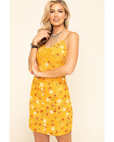 Idyllwind Women's Sun-Tea Floral Slip Dress, Yellow, hi-res