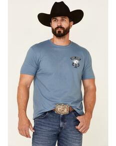 Cody James Men's Dark Blue Aces & 8S Graphic Short Sleeve T-Shirt , Dark Blue, hi-res