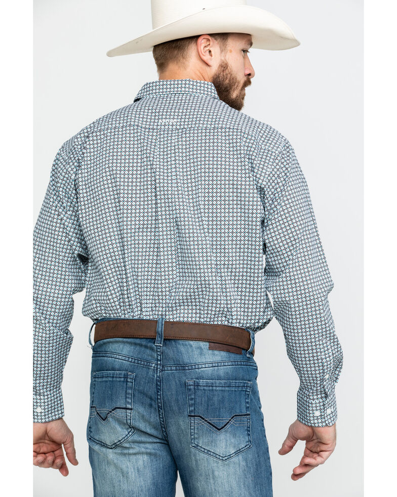 Ariat Men's Burbank Stretch Geo Print Long Sleeve Western Shirt , Multi, hi-res