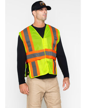 Hawx® Men's 2-Tone Mesh Work XL Vest - Big & Tall, Yellow, hi-res