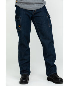 Hawx® Men's Fleeced Lined Stretch Denim Work Jeans, Indigo, hi-res