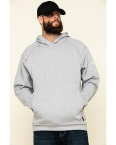 Ariat Men's Silver Fox Heather FR Rev Pullover Hooded Sweatshirt - Big, Silver, hi-res