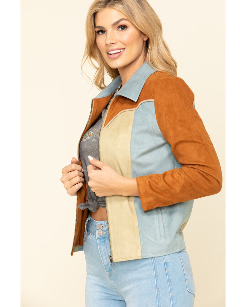 Idyllwind Women's Soaring Star Faux Suede Jacket, Brown, hi-res