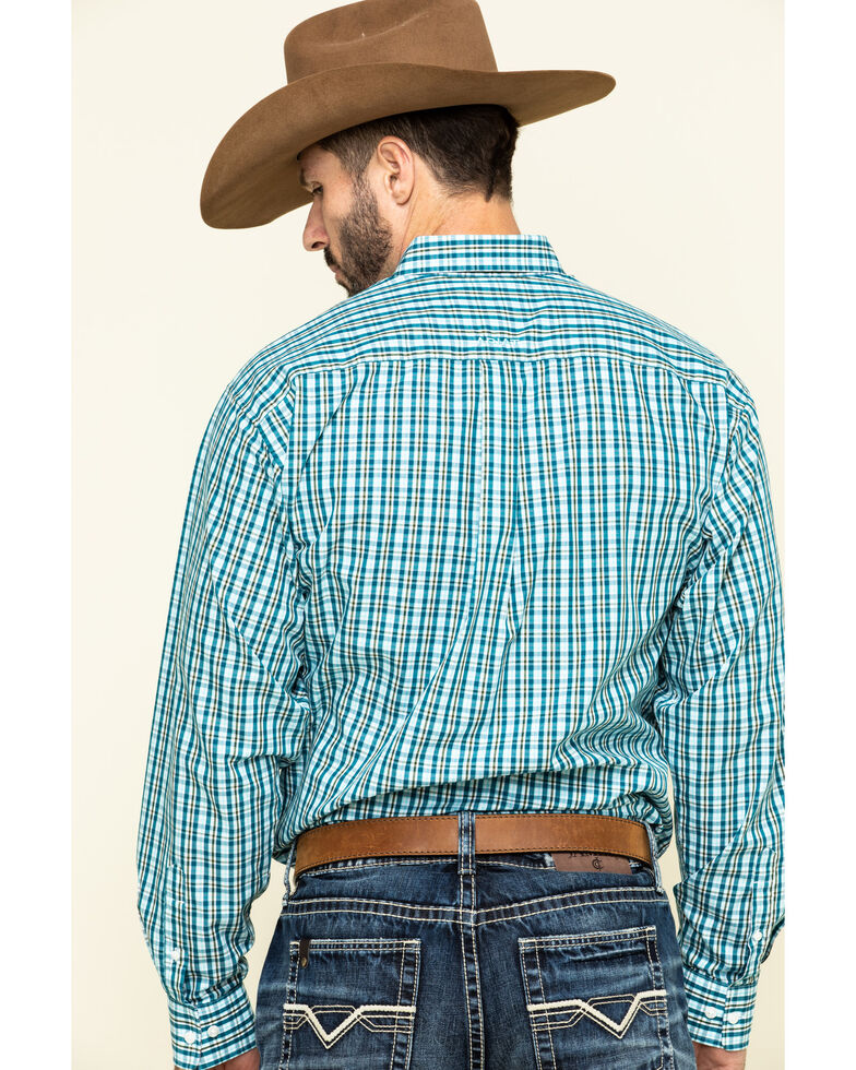Ariat Men's Wrinkle Free Verdon Small Plaid Long Sleeve Western Shirt - Big , Multi, hi-res