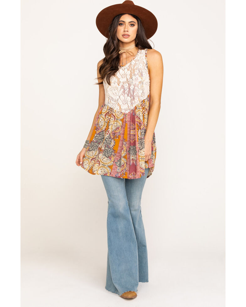 Free People Women's Count Me In Trapeze Tunic , Pink, hi-res