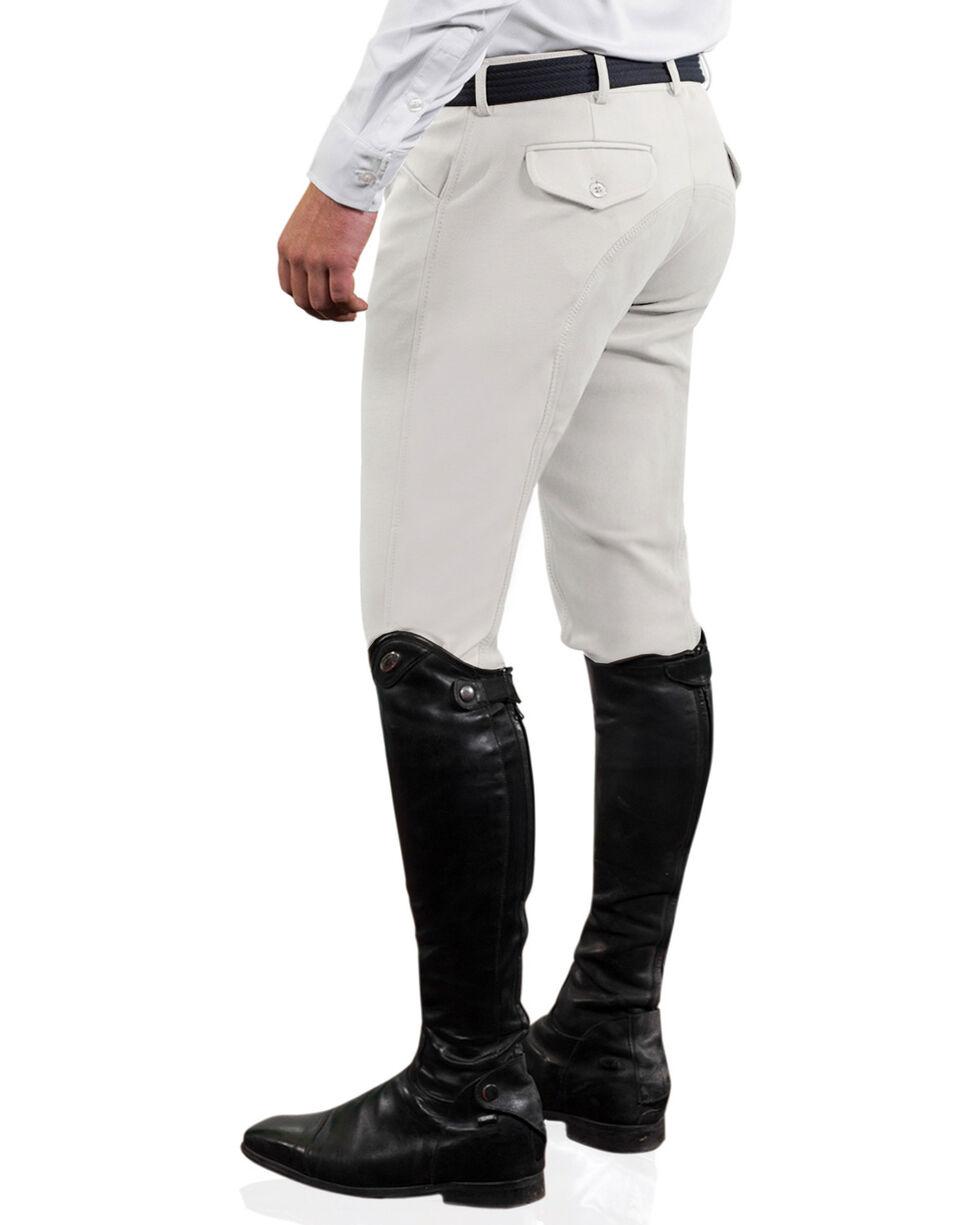 Ovation Men's Euroweave Four Pocket Full Seat DX Breeches, White, hi-res