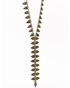 Idyllwind Women's Crossroads Brass Necklace, Gold, hi-res