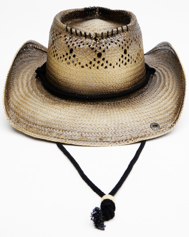 Peter Grimm Women's Natural Lovey Palmilla Straw Western Hat , Natural, hi-res