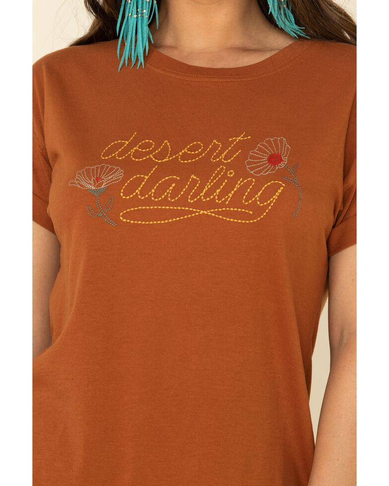 White Crow Women's Rust Desert Darling Stitch Graphic Tee, Rust Copper, hi-res