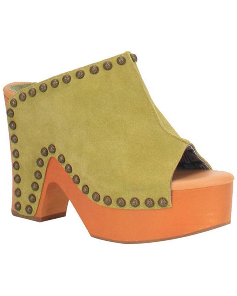 Dingo Women's Green Peace N' Love Clogs, Light Green, hi-res