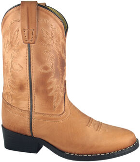 Smoky Mountain Toddler Boys' Bomber Western Boots - Round Toe, Tan, hi-res