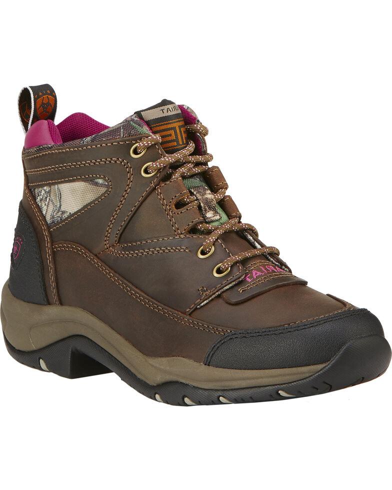 Ariat Terrain Women's Hiking Boots, Brown, hi-res