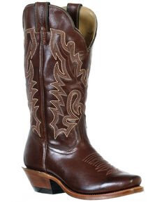 Boulet Women's Cutter Toe Western Boots, Tan, hi-res