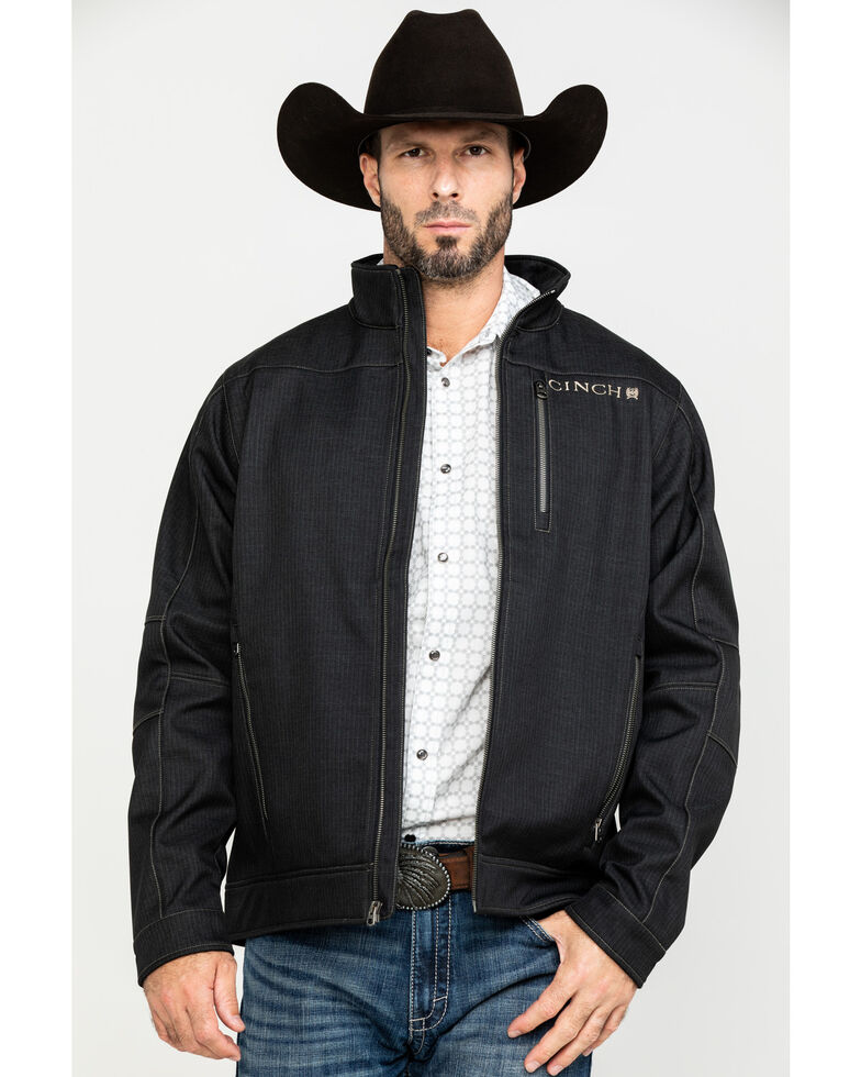 Cinch Men's Charcoal Bonded Jacket , Charcoal, hi-res
