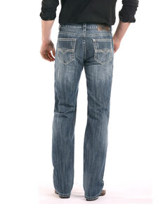 Rock & Roll Cowboy Men's Double Barrel Running Stitch Straight Jeans, Blue, hi-res