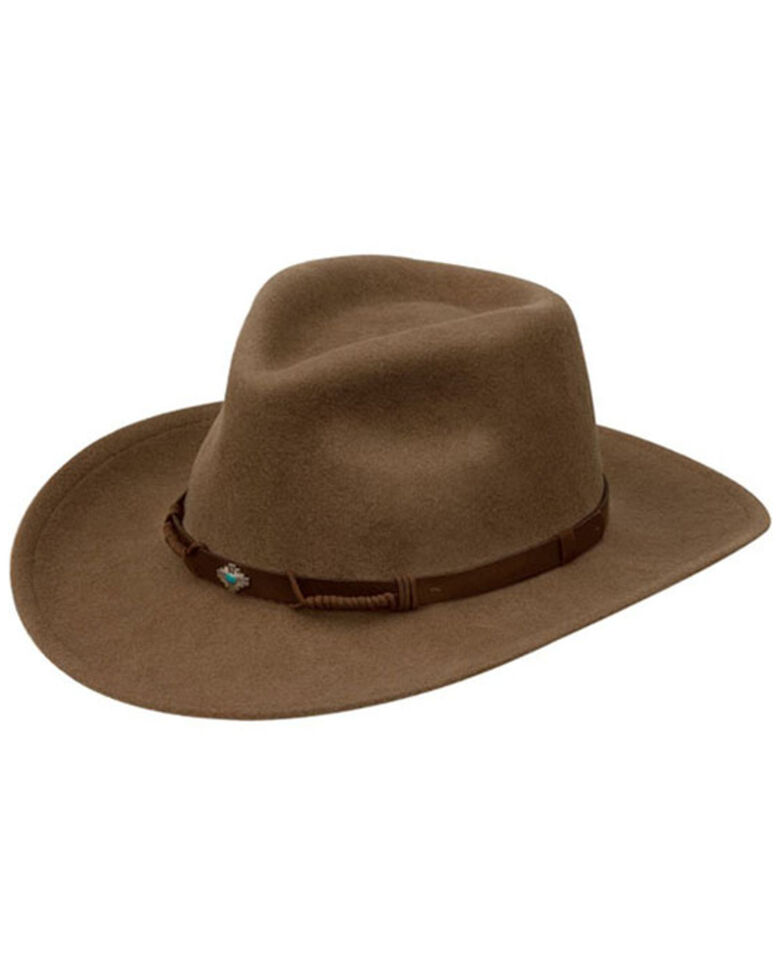 Black Creek Putty Crushable Woot Felt Rancher Hat , Cream, hi-res